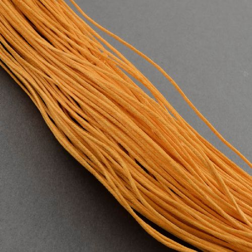 Wax Cotton 0.7mm - Gold (one metre)